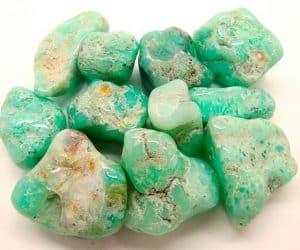 Piedras de crisoprasa