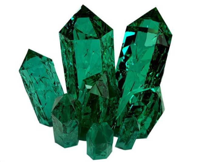 Cuarzo verde cristalizado en punta