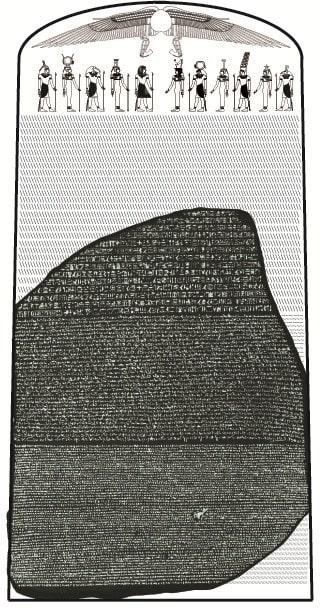 Estela original de la piedra rosetta