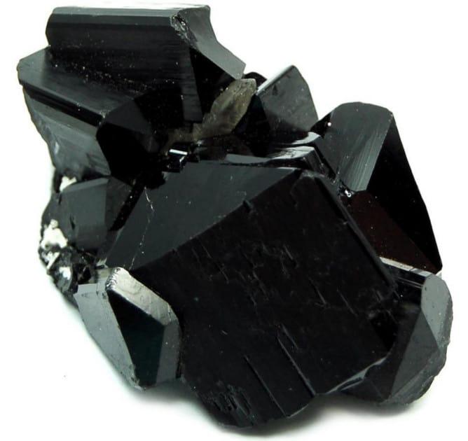 Bloque de piedra turmalina negra