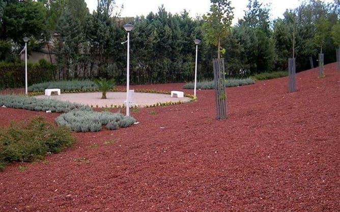 Piedra volcánica roja