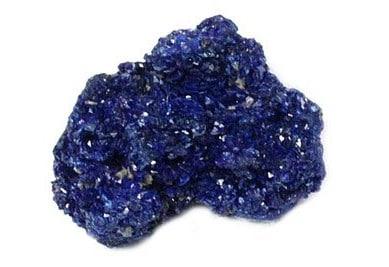 Piedra de azurita azul