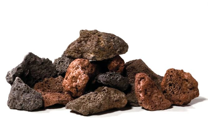 Selección de piedras volcánicas